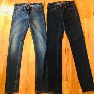 2 pairs Arizona jeans size 1
